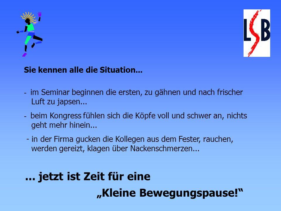 """""""Kleine Bewegungspause!"""