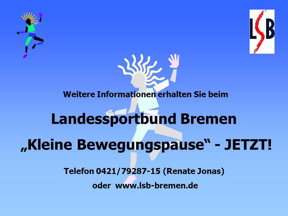 """Landessportbund Bremen """"Kleine Bewegungspause - JETZT!"""