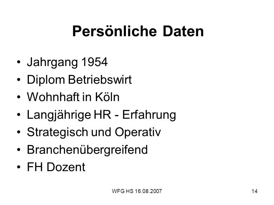 Persönliche Daten Jahrgang 1954 Diplom Betriebswirt Wohnhaft in Köln