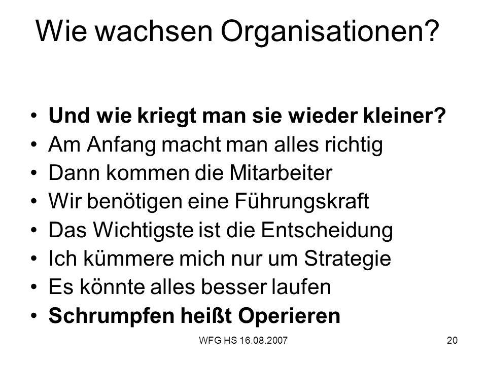 Wie wachsen Organisationen