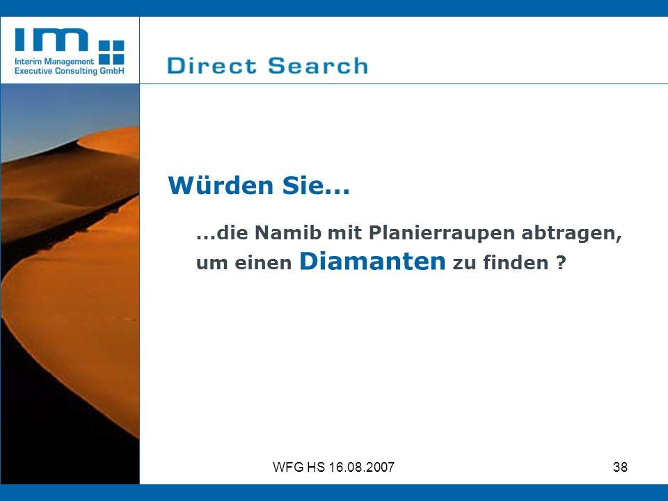 Würden Sie... ...die Namib mit Planierraupen abtragen,