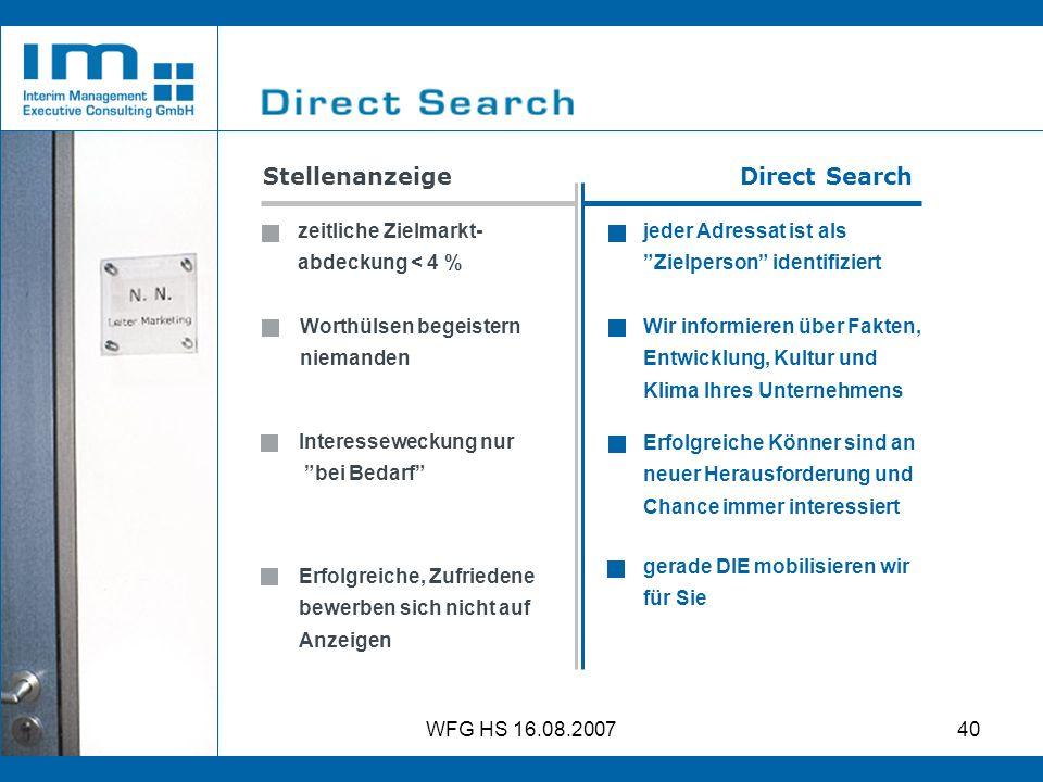 Stellenanzeige Direct Search