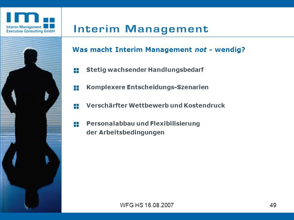 Was macht Interim Management not - wendig