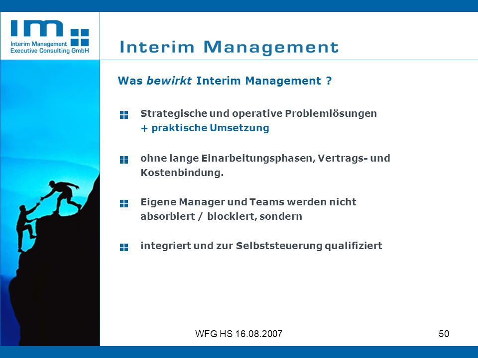 Was bewirkt Interim Management