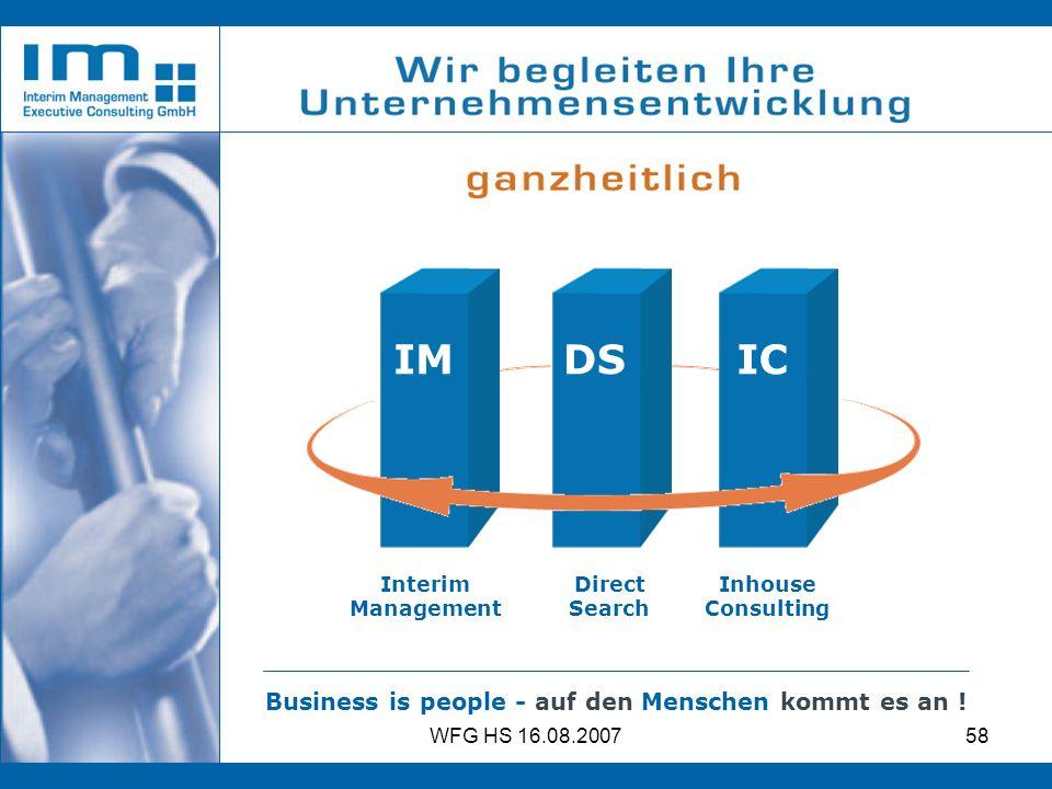 IM DS IC Business is people - auf den Menschen kommt es an !