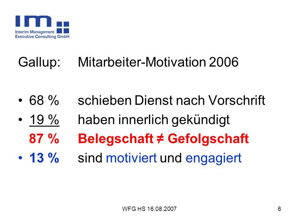Gallup: Mitarbeiter-Motivation 2006