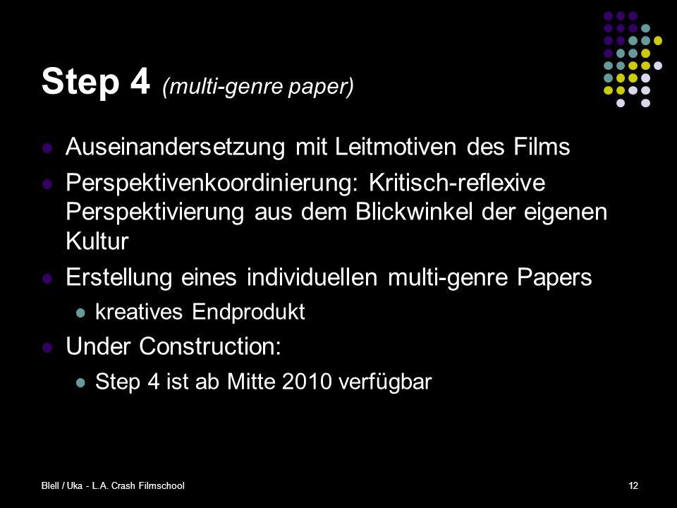Step 4 (multi-genre paper)
