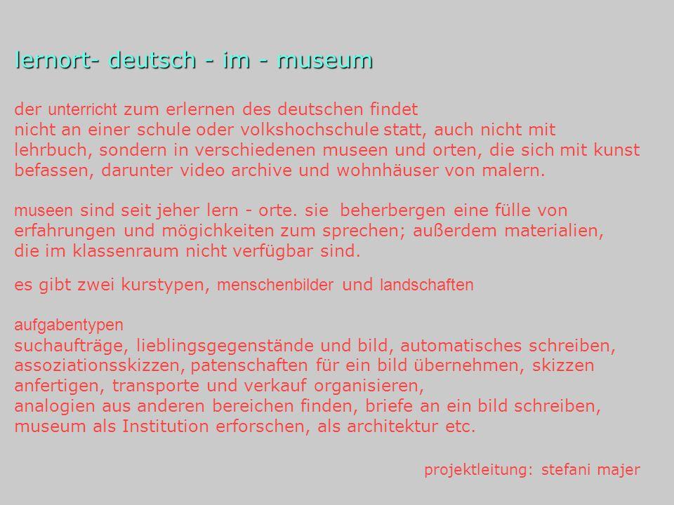 lernort- deutsch - im - museum