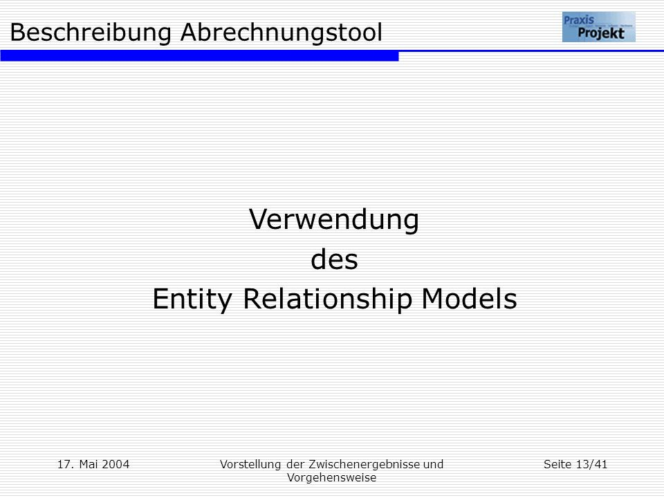 Entity Relationship Models