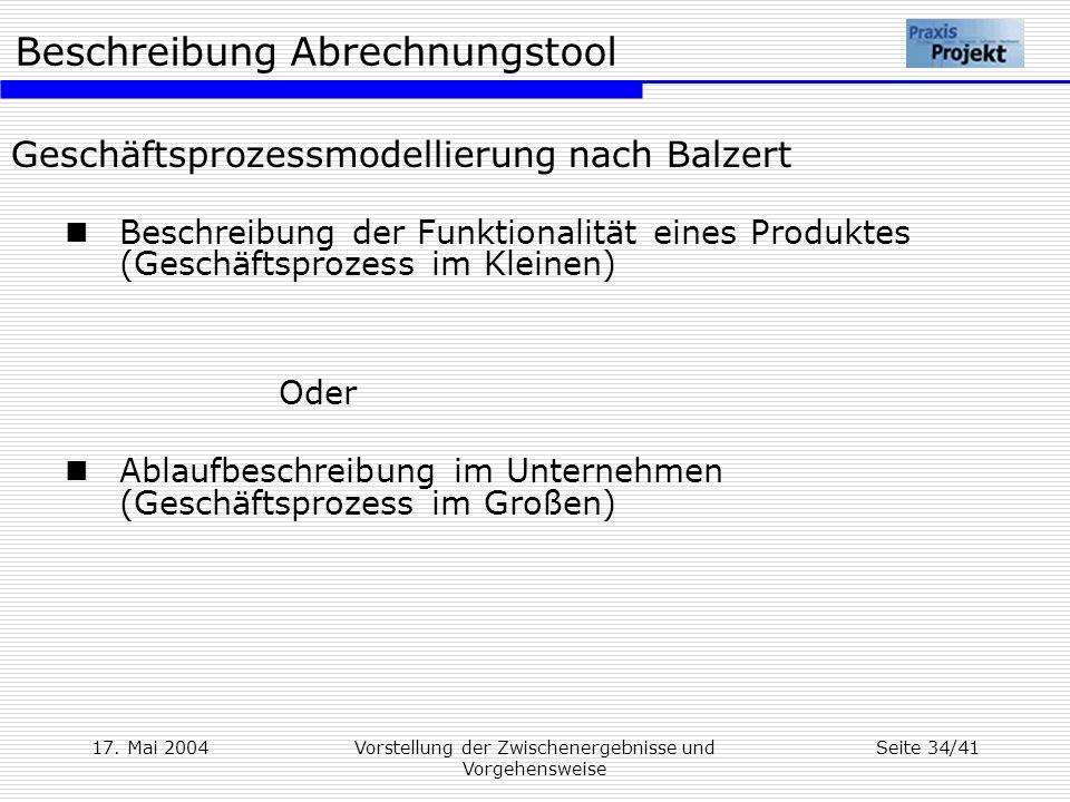 Geschäftsprozessmodellierung nach Balzert