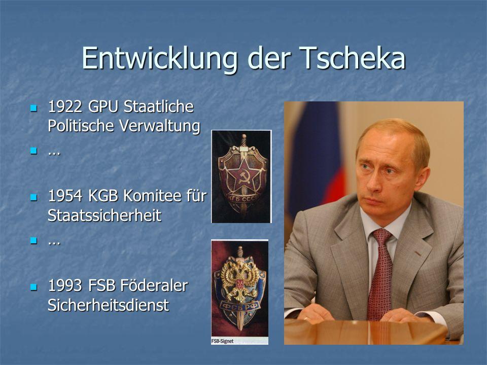 Entwicklung der Tscheka