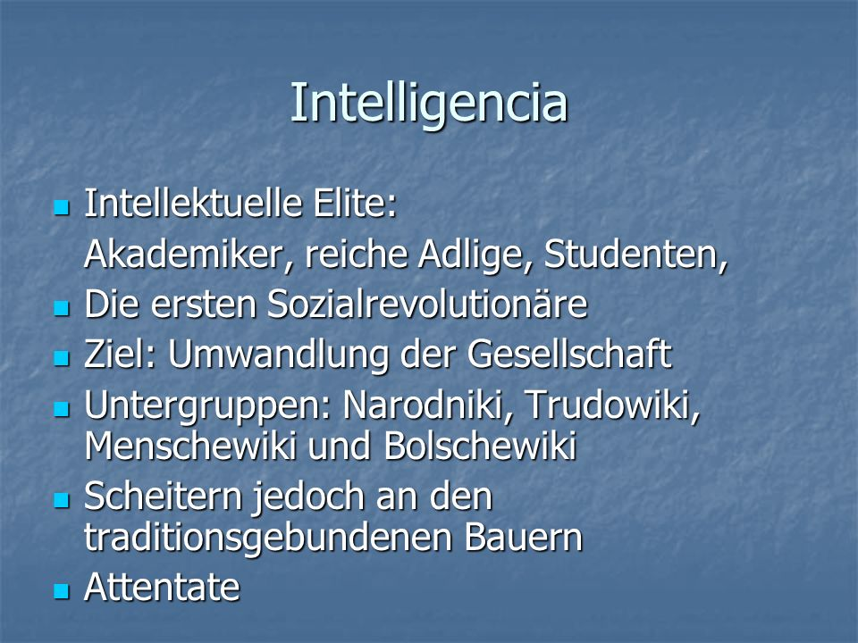 Intelligencia Intellektuelle Elite: