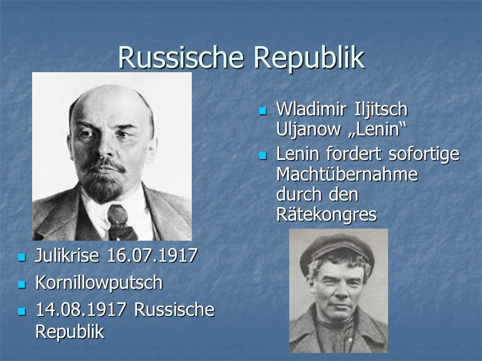 "Russische Republik Wladimir Iljitsch Uljanow ""Lenin"