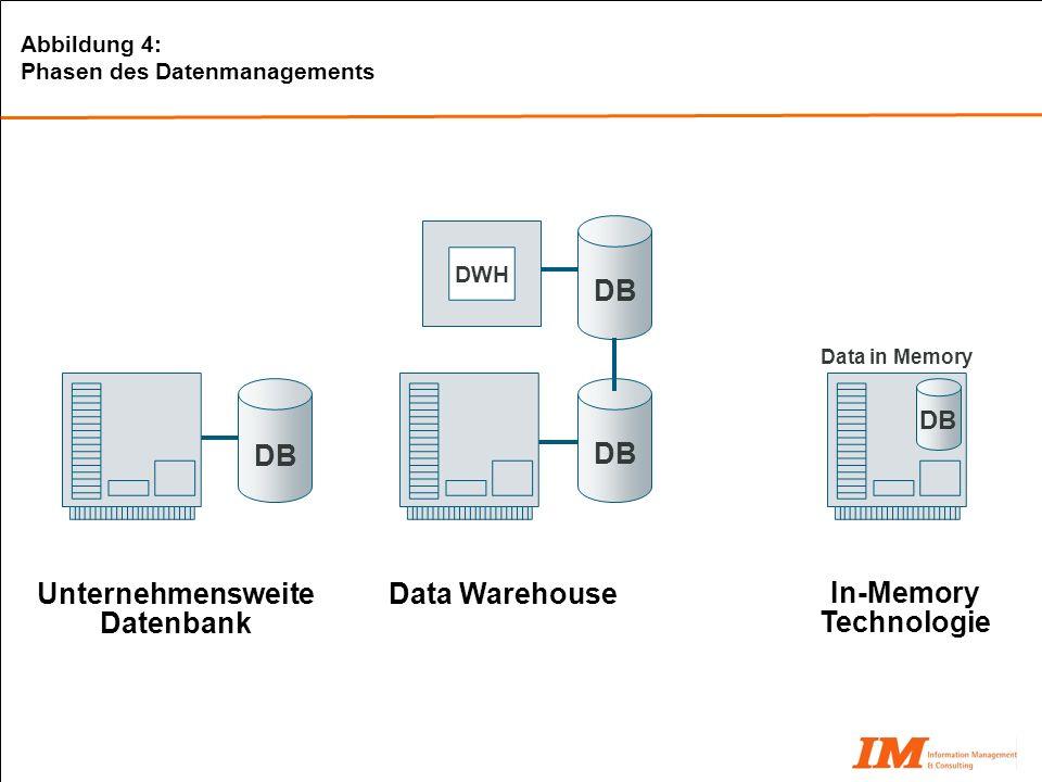 Unternehmensweite Datenbank In-Memory Technologie