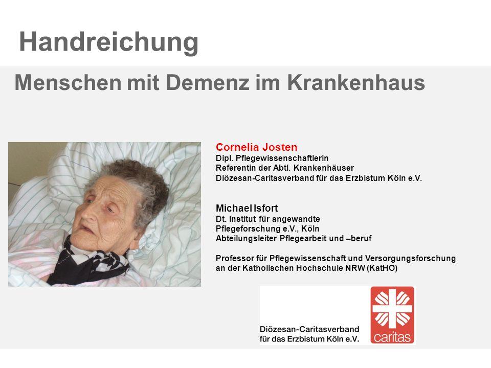Handreichung Menschen mit Demenz im Krankenhaus Cornelia Josten