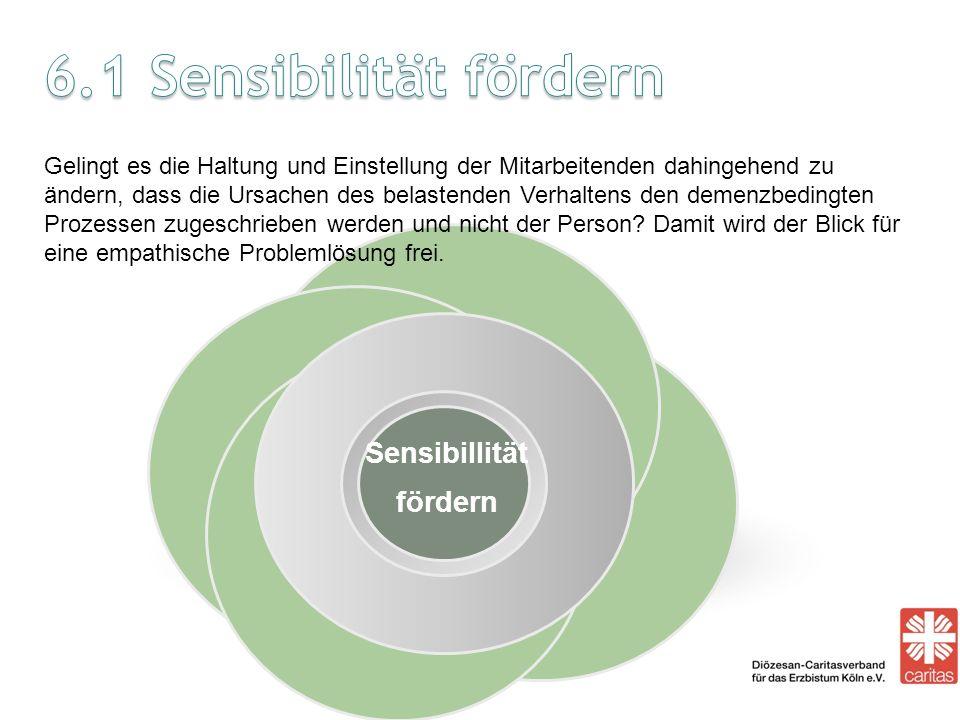 6.1 Sensibilität fördern Sensibillität fördern