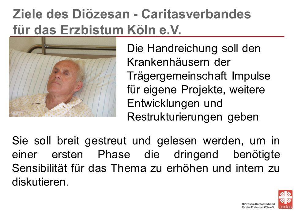 Ziele des Diözesan - Caritasverbandes für das Erzbistum Köln e.V.