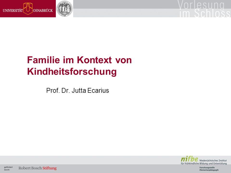 Familie im Kontext von Kindheitsforschung