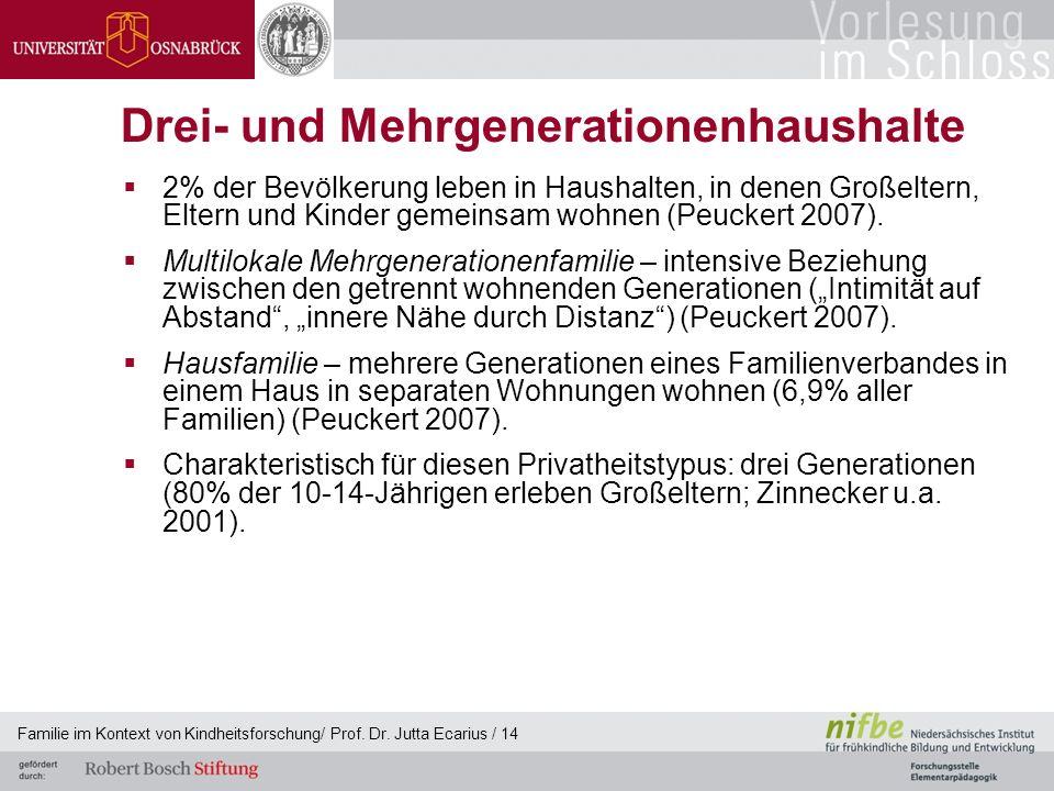 Drei- und Mehrgenerationenhaushalte
