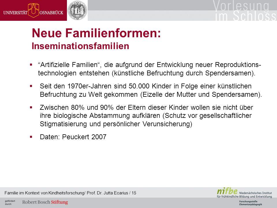 Neue Familienformen: Inseminationsfamilien