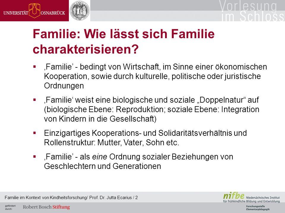 Familie: Wie lässt sich Familie charakterisieren