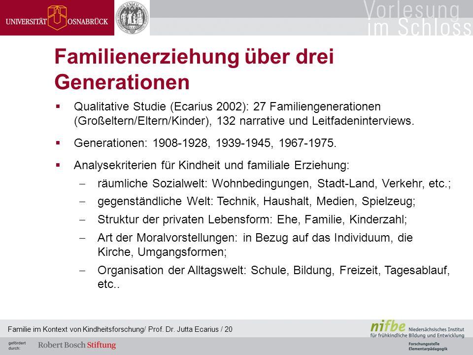 Familienerziehung über drei Generationen