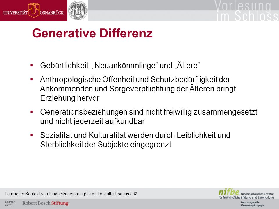 """Generative Differenz Gebürtlichkeit: """"Neuankömmlinge und """"Ältere"""