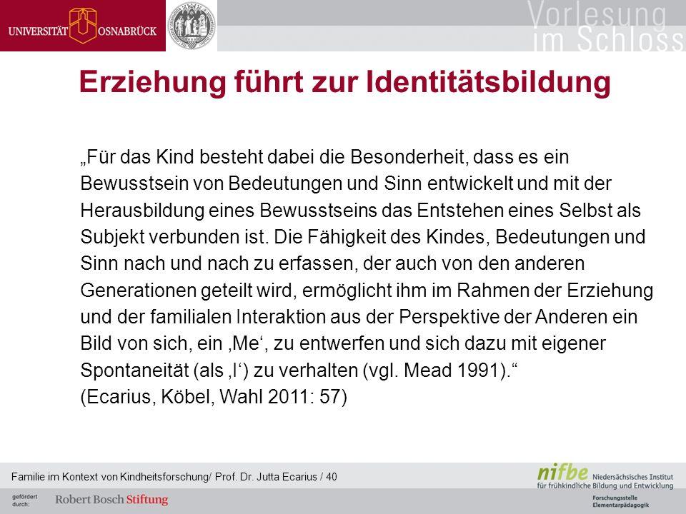 Erziehung führt zur Identitätsbildung