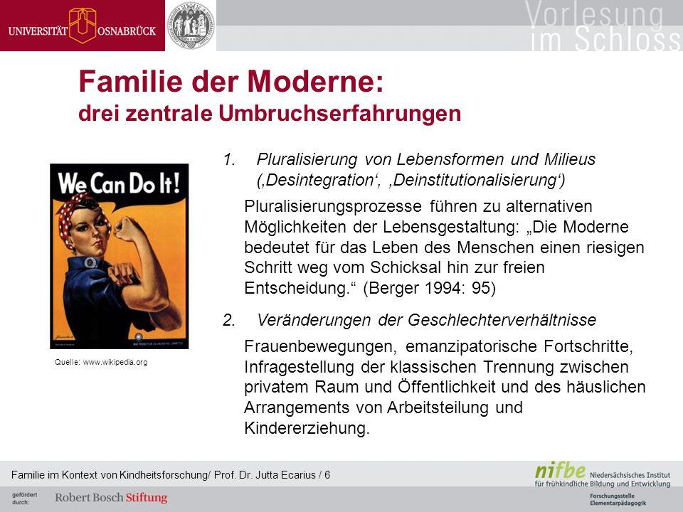 Familie der Moderne: drei zentrale Umbruchserfahrungen