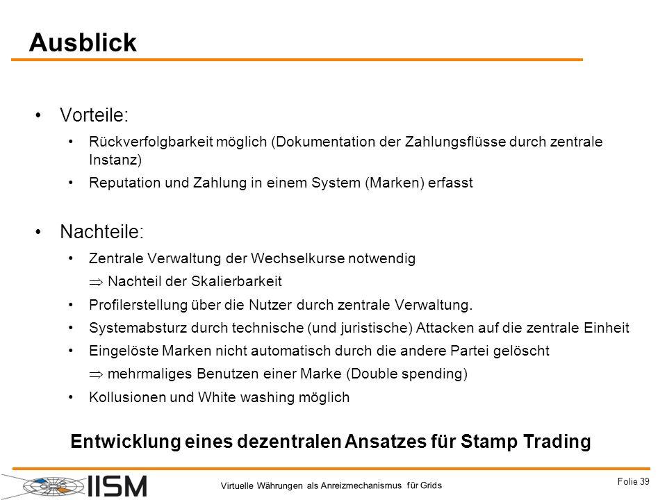 Entwicklung eines dezentralen Ansatzes für Stamp Trading