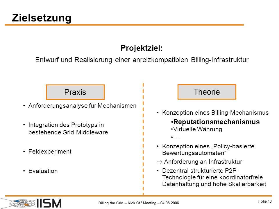 Entwurf und Realisierung einer anreizkompatiblen Billing-Infrastruktur