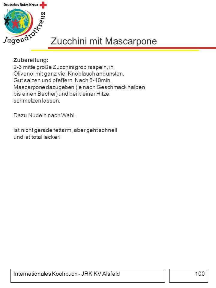 Zucchini mit Mascarpone