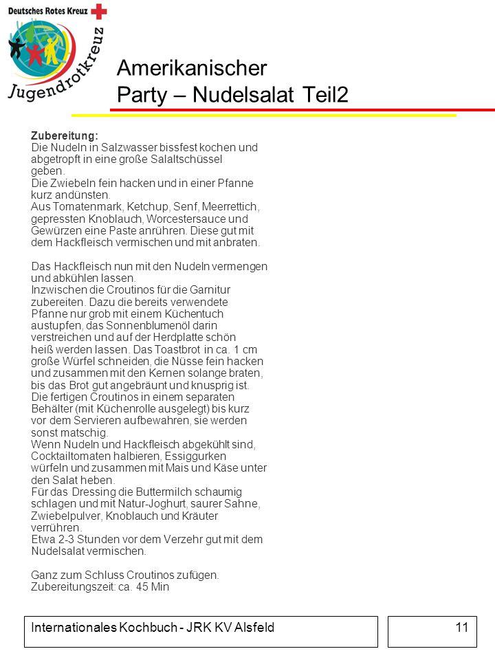 Amerikanischer Party – Nudelsalat Teil2