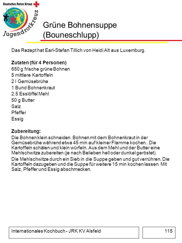 Grüne Bohnensuppe (Bouneschlupp)