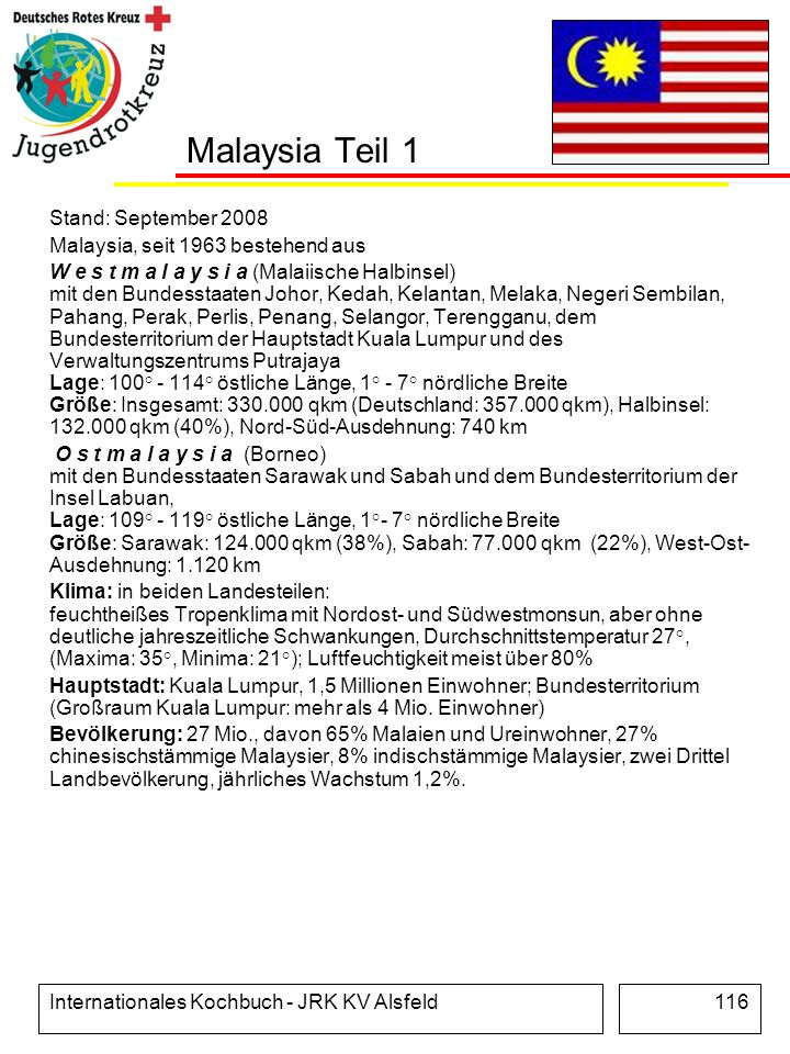 Malaysia Teil 1 Stand: September 2008