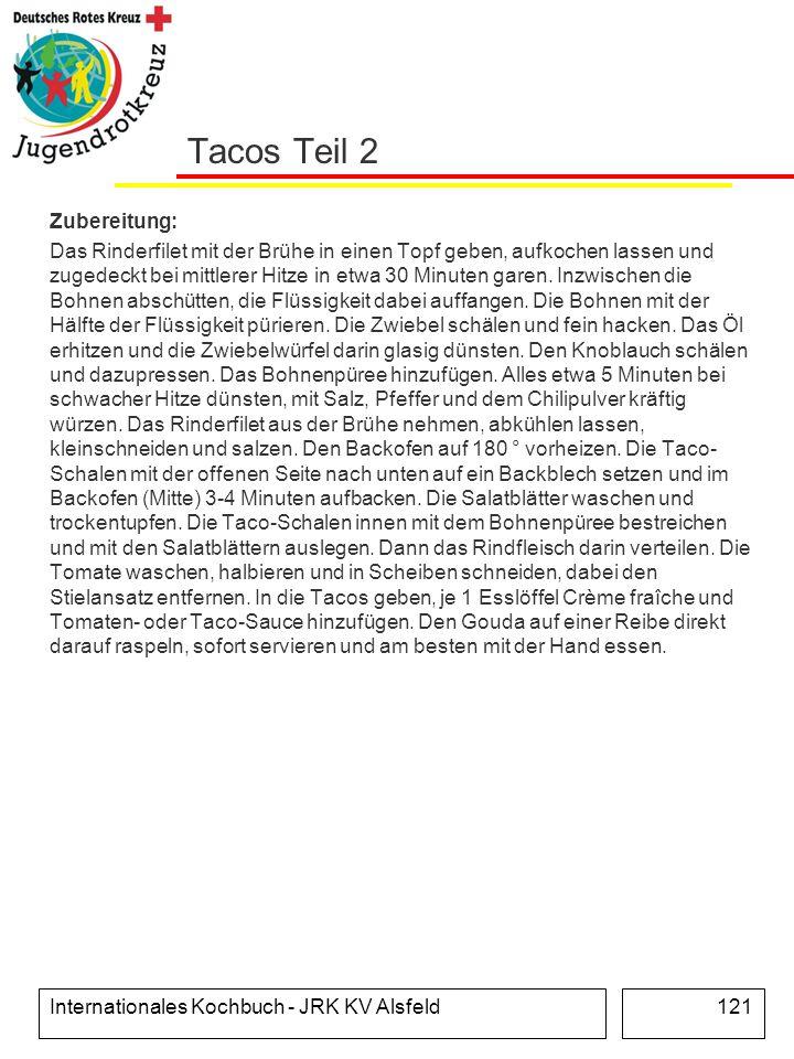 Tacos Teil 2 Zubereitung: