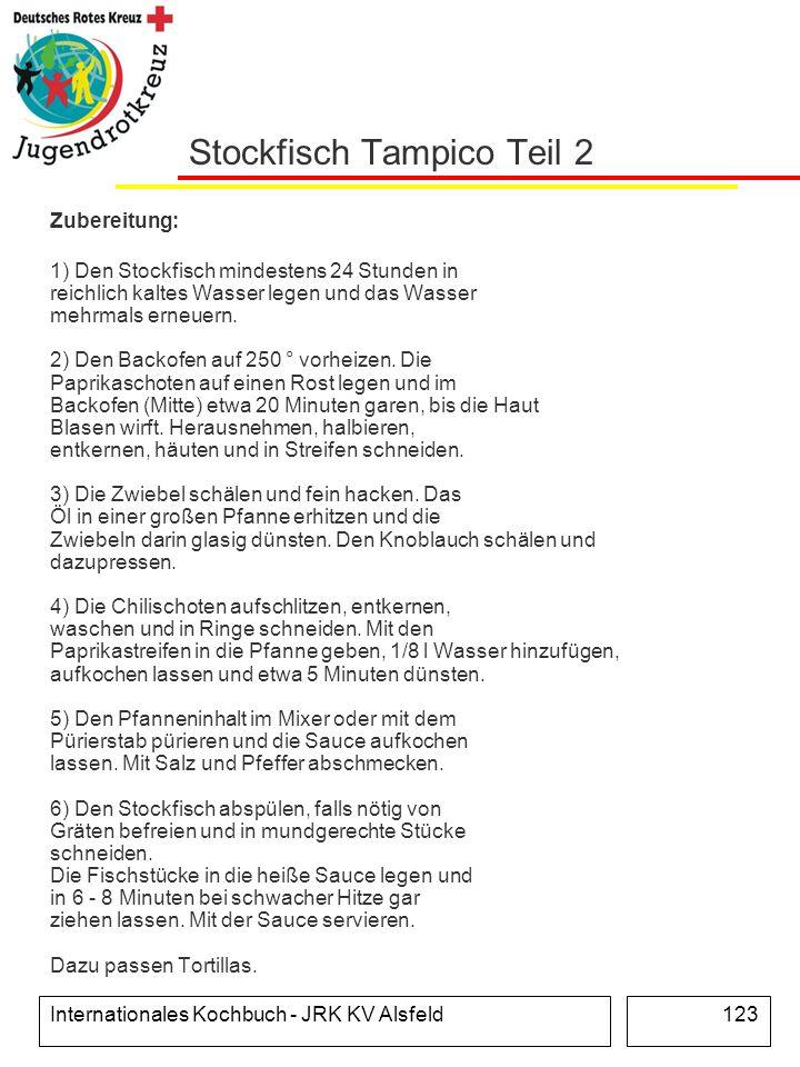 Stockfisch Tampico Teil 2