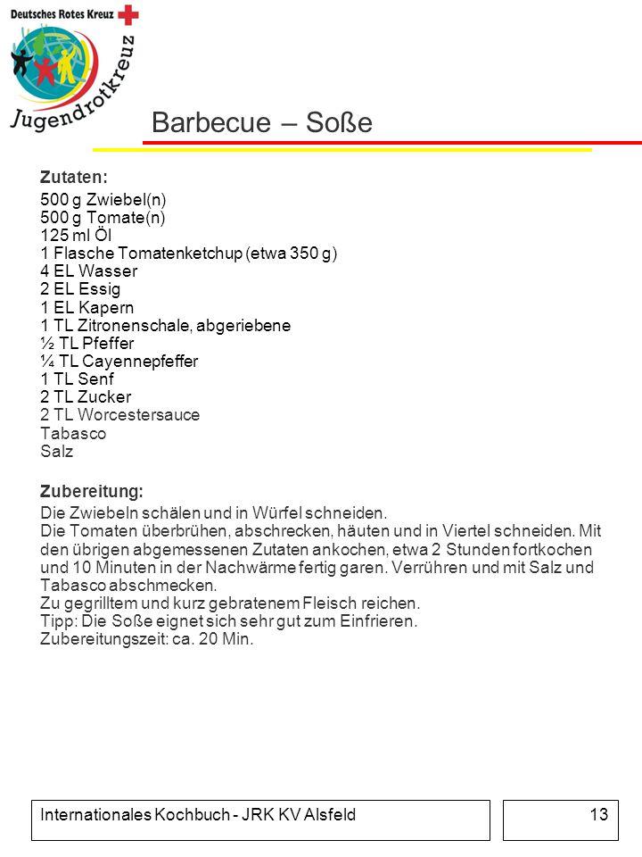 Barbecue – Soße Zutaten: