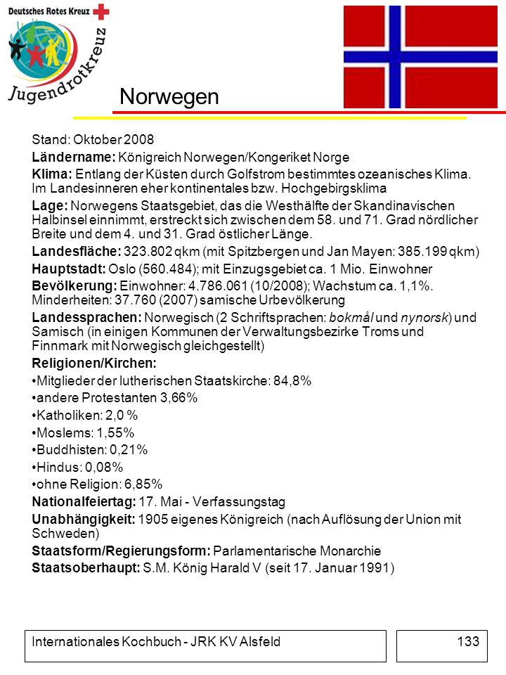 Norwegen Stand: Oktober 2008
