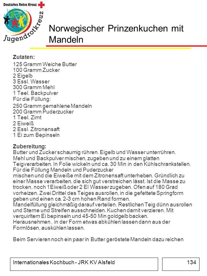 Norwegischer Prinzenkuchen mit Mandeln