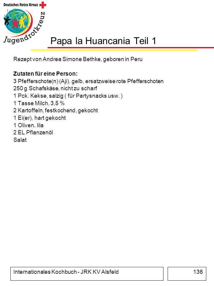 Papa la Huancania Teil 1 Rezept von Andrea Simone Bethke, geboren in Peru. Zutaten für eine Person: