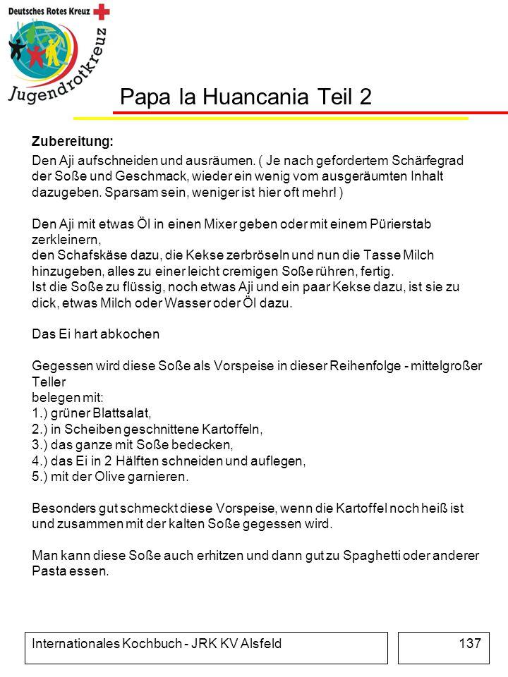 Papa la Huancania Teil 2 Zubereitung: