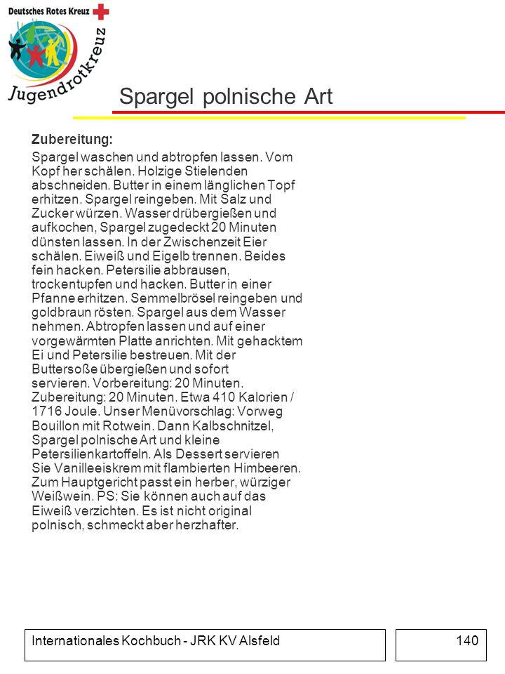 Spargel polnische Art Zubereitung: