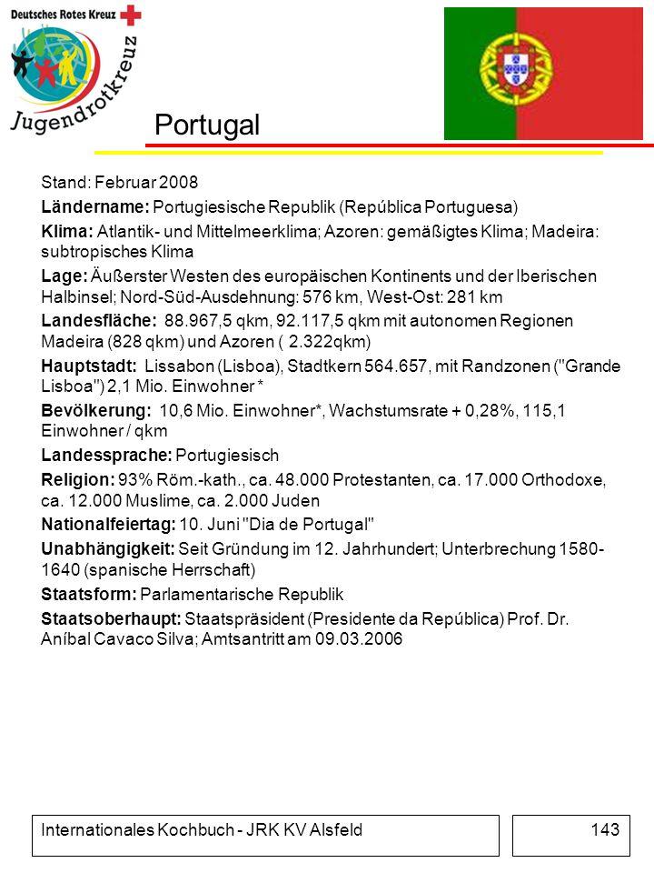 Portugal Stand: Februar 2008