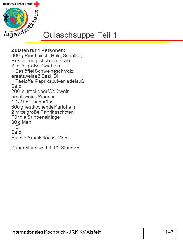 Gulaschsuppe Teil 1