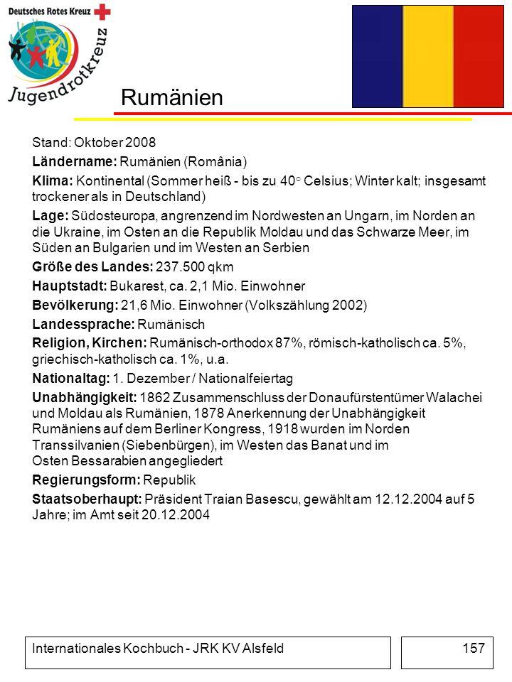 Rumänien Stand: Oktober 2008 Ländername: Rumänien (România)