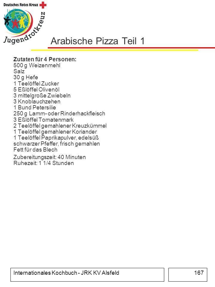 Arabische Pizza Teil 1