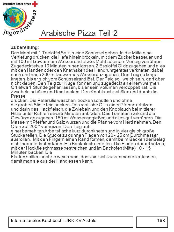Arabische Pizza Teil 2 Zubereitung: