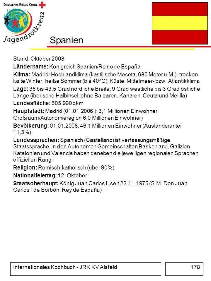 Spanien Stand: Oktober 2008