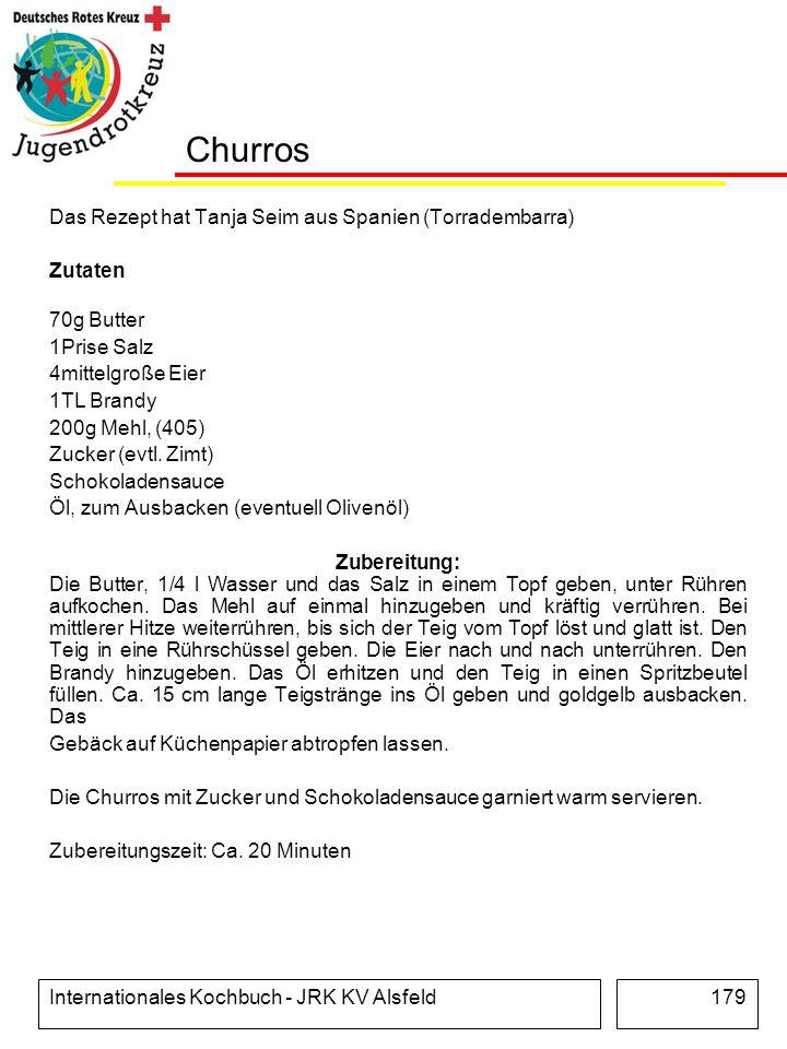 Churros Das Rezept hat Tanja Seim aus Spanien (Torradembarra) Zutaten